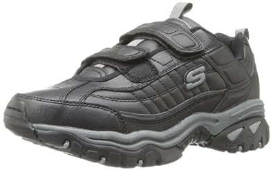 Skechers Sport Men's Energy Fix Up Velcro Sneaker,Black,6.5 XW US