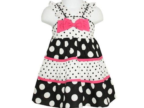Rare Editions Baby Girls Polka Dot Sundress - 12 Months