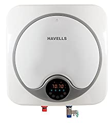 Havells Quatro Digital 25-Litre Storage Water Heater (White/Gray)
