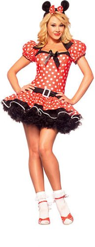 Women's Sexy Miss Mouse Adult Halloween Costume MD