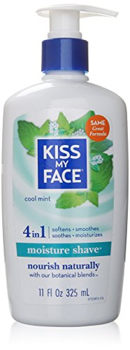 buy Kiss My Face Vitamin Enriched Moisture Shave With Essential Oils, Cool Mint - 11 Oz