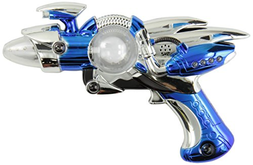 Rhode Island Novelty Super Spinning Laser Space Gun with LED Light and Sound (Colors May Vary) - 1