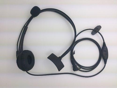 Bigstone Overhead Earpiece Headset Boom Mic Microphone Noise Cancelling For Yaesu Vertex Radio 1Pin 3.5Mm