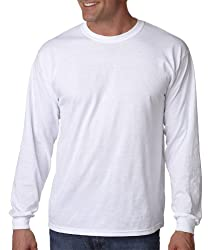 Gildan T Shirts G5400 Gd L/S Tee White Xl By Gildan