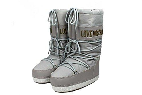 Love MoschinoJA2419 - Stivali da Neve Donna , Grigio (grigio), 37