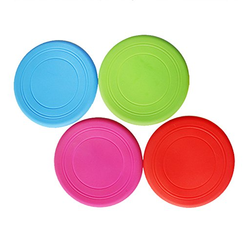 4pcs morbido Silicone Flying Disc Frisbee Dog Pet Outdoor Training Fetch Toy