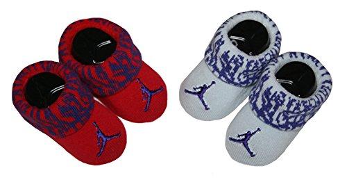 Jordan Baby Boys' Booties - 2 pk (0-6 Months, Flo Red)