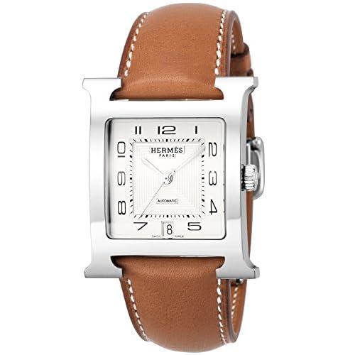 [エルメス]HERMES 腕時計 Hウォッチ シルバー文字盤 カーフ革ベルト 自動巻 HH2.810.220.VBA メンズ 【並行輸入品】