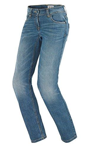 Spidi - Pantaloni per Moto da Donna J-Flex Denim Jeans, Blu Usato Medio, 34