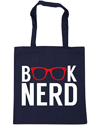 hippowarehouse-book-nerd-tote-shopping-gym-beach-bag-42cm-x38cm-10-litres