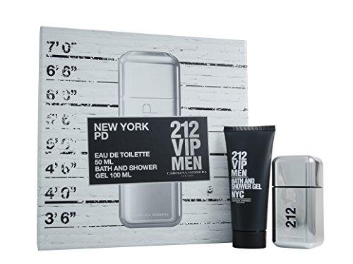 Carolina Herrera 212VIP Men 50ml Eau de Toilette Spray Plus 100ml Bath e gel doccia set regalo per lui, 1er Pack (1x 50ml)