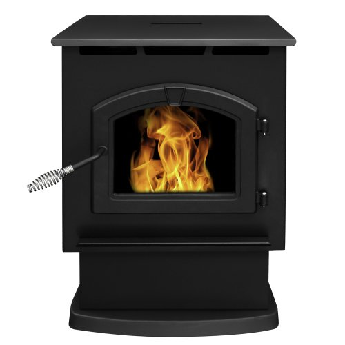 Check Out This Pleasant Hearth Large 50000 BTU's Pellet Stove with 80-Pound Hopper