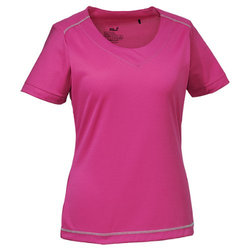 Jack Wolfskin Damen Shirt Coolmax Print T Women, Pink Passion, XXL, 1802371-2112006