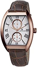 Thomas Earnshaw Holborn Multi Function Men's Quartz Watch with White Dial Analogue Display and Brown Leather Strap ES-8004-04