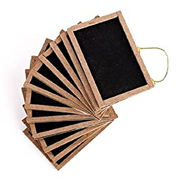 12pc Mini Chalkboard with Wooden Frame 2\