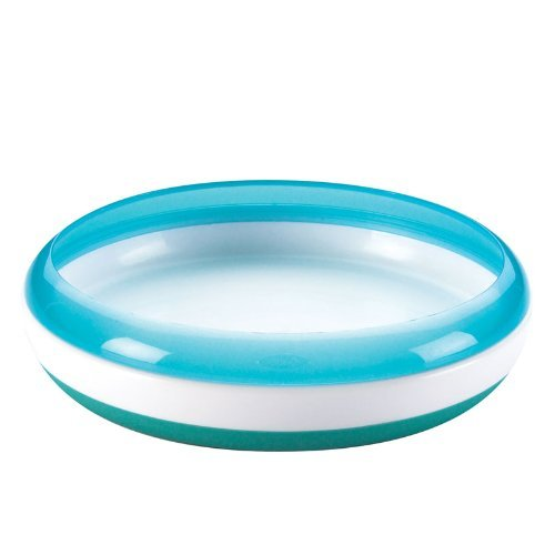Baby / Child Safe And Convenient OXO Tot Weighted Plate For Stability And Durability Non-Slip Base - Aqua Infant
