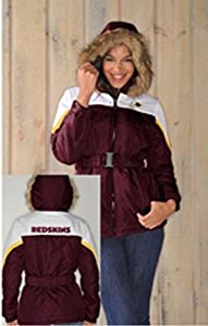 NFL- Washington REDSKINS Ladies The Looker Jacket with Faux Fur TrimHood~ XL by G 111