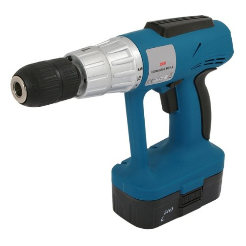 24V CORDLESS HAMMER DRILL WITH 2 BATTERIES AND CASE