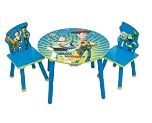 toy story children 39 s table and 2 chairs toys games. Black Bedroom Furniture Sets. Home Design Ideas