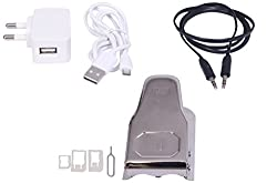 AGMC Combo Set of Super Charger + AUX cable + SIM Cutter