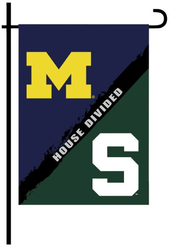 NCAA Michigan-Michigan State 2-Sided Garden Flag-Rivalry House Divided (House Divided compare prices)