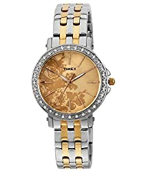 Timex Fashion Analog Beige Dial Womens Watch - J502