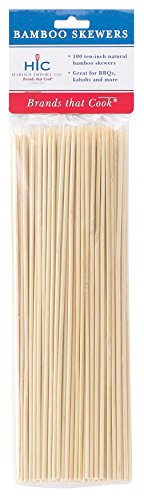 HIC Bamboo BBQ, Kabob and Grill Skewers, 10-Inches Long, Set of 100 (Bamboo Appliance Slide compare prices)