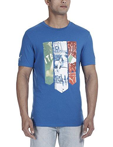 PUMA Herren Italien T-Shirt Figc Italia Badge Tee, Team Power Blue, XXL, 745186 01