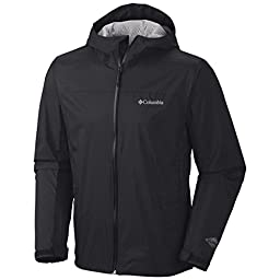 Columbia Men\'s EvaPOURation Jacket, Black, 3X-Tall
