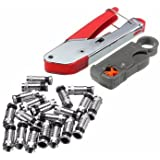 GENERIC Universal Compression Tool Stripper F RCA BNC RG6 Connector Cable Coax Crimper