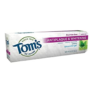 Tom's of Maine Antiplaque & Whitening, Fluoride-Free Natural Toothpaste