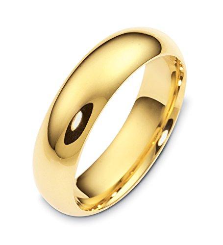 Where To Buy Mens 14K Yellow Gold Half Round 6MM Wedding Band