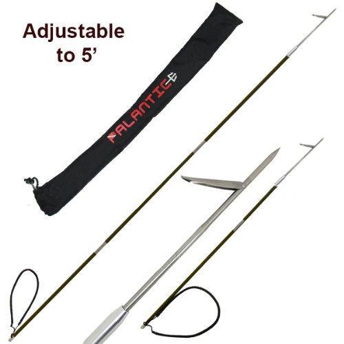 Sba-Choice Punta in fibra di carbonio, daviaggio, pesca subacquea in apnea, puntale singolo, 3 arpioni