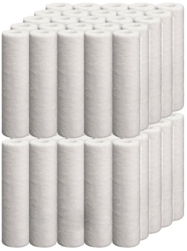 iSpring 5M-50PK 5-micron 10-Inch by 2.5-Inch Sediment Filter Cartridges, NSF Certified, 50-Pack