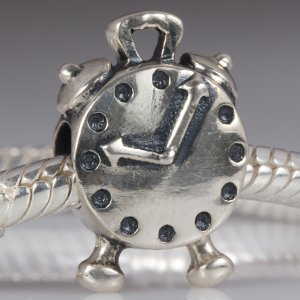 Alarm Clock Authentic 925 Sterling Silver Bead Fits Pandora Chamilia Biagi Troll Charms Europen Style Bracelets