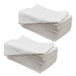 2 Dozen 16 x 27 WHITE Chemical Bleach Resistant Cotton Salon Safe Spa Towels