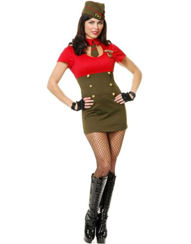 Charades Women's Wwii Army Babe Costume Set