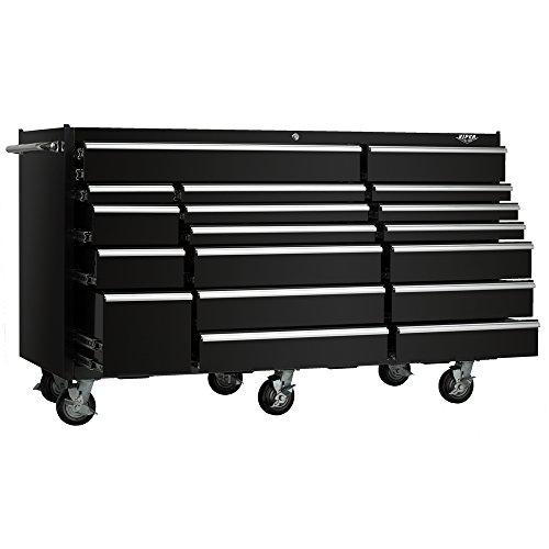 viper tool storage vp7218bl 72 inch 18 drawer 18g steel rolling tool cabinet black 181272000698. Black Bedroom Furniture Sets. Home Design Ideas
