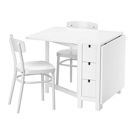 IKEA NORDEN / IDOLF - Tisch und zwei Stuhle Weiß / Weiß