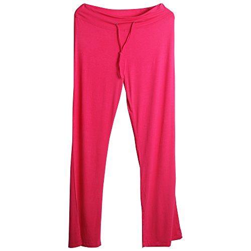 Sidiou Group Pantaloni comodi larghi del piedino corno di moda per donne , Pantaloni per Yoga, Danza, Sport & tempo libero (L, luce rossa)