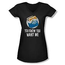 White Castle Want Me Ladies Junior Fit V-Neck T-Shirt