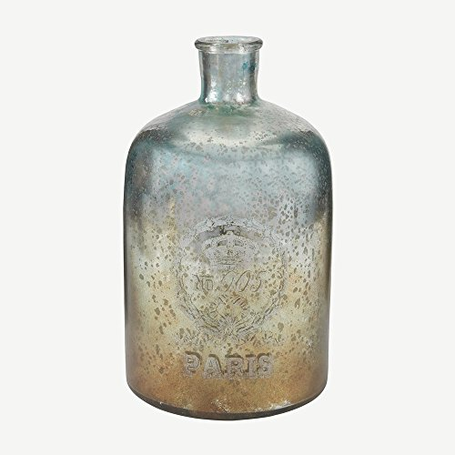 European Styling Glass Bottle in Aqua Antique Mercury (Antique Bottles For Sale compare prices)