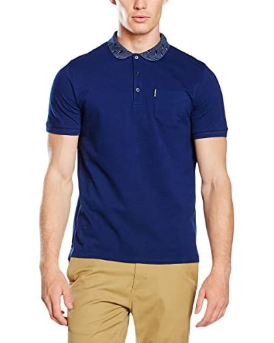 Ben Sherman Polo Pindot Optic Geo  [Blu]