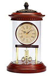 Bombay Company Traditional Oval Anniversary Clock Antique Mahogany