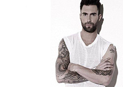 """19, motivo Maroon 5 Adam Levine Jesse James bastoncino, motivo """"Topolino"""", modello """"Madden"""" Valentine Flynn PJ Morton grande, in metallo, motivo: Rock Music Band-Album portafoto con stampa unico per Poster, formato A4"""