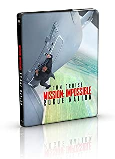 【Amazon.co.jp限定】ミッション:インポッシブル/ローグ・ネイション ブルーレイ+DVD+ブルーレイ特典ディスク スチールブック仕様(3枚組)(キャラクターカードセット付)(2500枚限定) [Blu-ray]