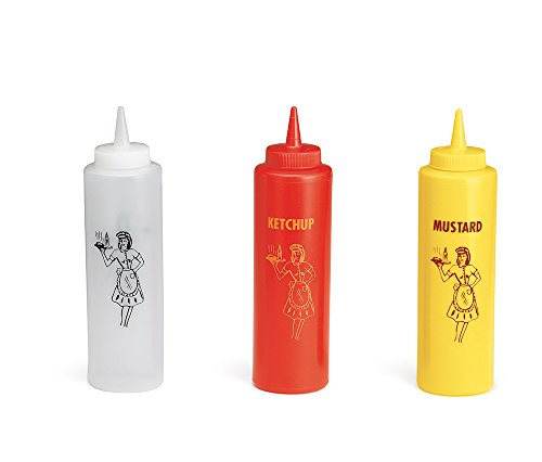 TableCraft 1112KMC 3-Piece Nostalgia Squeeze Bottle Set, 12-Ounce (Catsup Dispenser compare prices)