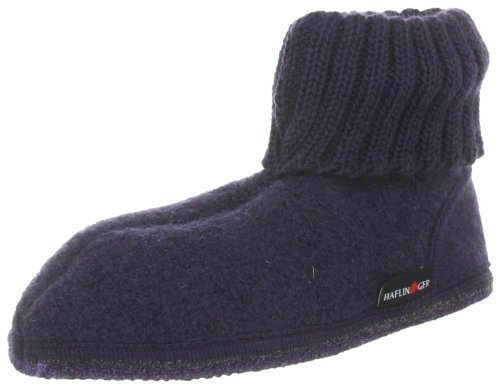 Haflinger Hüttenschuh Karl High Unisex-Child Purple Violett (lavendel 90) Size: 29