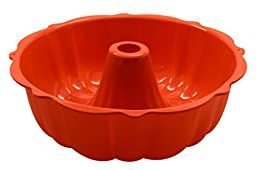 Marathon Housewares KW200012OR Premium Silicone Bundt Pans, Orange