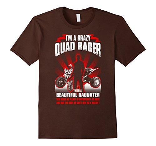 [Men's Crazy quad racer shirt Medium Brown] (Toddler Girl Racer Costume)
